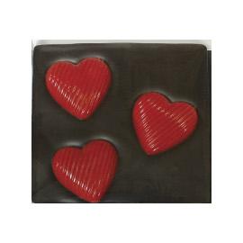 Молочный шоколад  3 красных СЕРДЦА