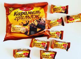 Конфеты в шоколадной глазури. 240 грамм Карамель грильяж.
