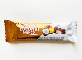 """Батончик в шоколадной глазури """"Кокос-Манго"""" 50г"""